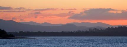 Tramonto della spiaggia del Queensland Fotografie Stock
