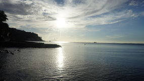 Tramonto della spiaggia di Anilao Fotografia Stock Libera da Diritti