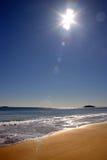 Tramonto della spiaggia di canto Fotografie Stock Libere da Diritti