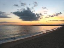 Tramonto della spiaggia di Ct fotografia stock