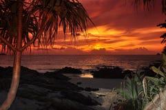 Tramonto della spiaggia di Patong Fotografie Stock