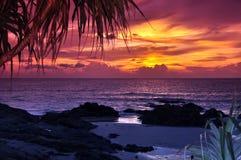 Tramonto della spiaggia di Patong Immagine Stock Libera da Diritti