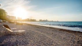 Tramonto della spiaggia nel Porto Rico immagini stock libere da diritti