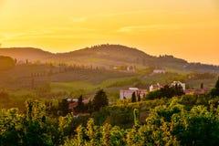 Tramonto della Toscana Fotografia Stock Libera da Diritti
