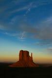 Tramonto della valle del monumento Fotografie Stock Libere da Diritti