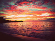 Tramonto delle Hawai Fotografia Stock
