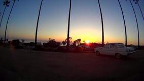 Tramonto delle palme di California - Encinitas Ca video d archivio