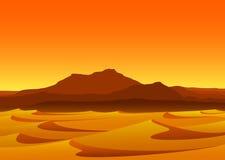Tramonto in deserto Fotografie Stock Libere da Diritti