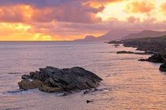 Tramonto di Achill fotografie stock