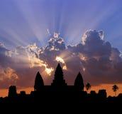 Tramonto di Angkor Fotografia Stock
