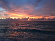 Tramonto 1 di Aruba fotografie stock libere da diritti