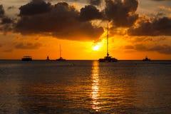 Tramonto di Aruba Fotografia Stock Libera da Diritti