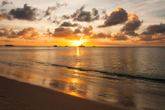 Tramonto di Aruba Fotografia Stock