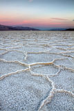 Tramonto di Badwater, Death Valley Fotografia Stock