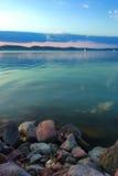 Tramonto di Balaton Fotografie Stock