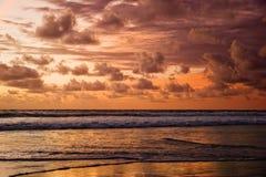 Tramonto di Bali Immagini Stock Libere da Diritti