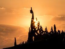 Tramonto 3 di Birmania Immagini Stock Libere da Diritti
