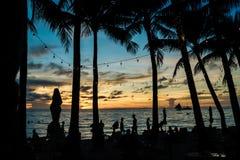 Tramonto di Boracay Uno dei tempi preveduti del giorno a Boracay immagine stock libera da diritti