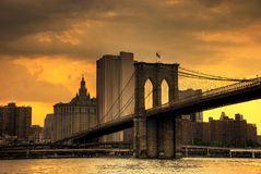 Tramonto di Brooklyn Immagine Stock Libera da Diritti