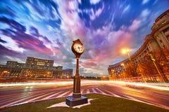 Tramonto di Bucarest Fotografie Stock