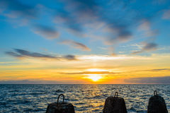 Tramonto di Calmness fotografia stock