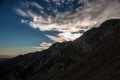 Tramonto di Carpathians Fotografie Stock
