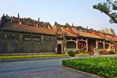 Tramonto di Chen Clan Temple Fotografie Stock
