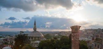Tramonto di Costantinopoli Fotografie Stock Libere da Diritti