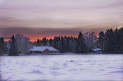 Tramonto di dicembre Fotografia Stock Libera da Diritti