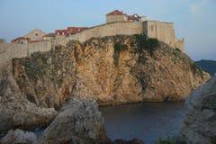 Tramonto di Dubrovnik Immagine Stock Libera da Diritti