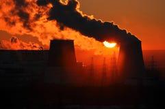 Tramonto di energia. Immagine Stock