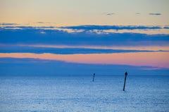Tramonto di estate sopra il Mar Baltico Fotografia Stock Libera da Diritti
