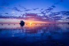 Tramonto di Flic-en-Flac Mauritius Immagini Stock