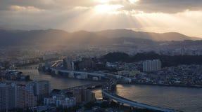 Tramonto di Fukuoka Fotografia Stock Libera da Diritti