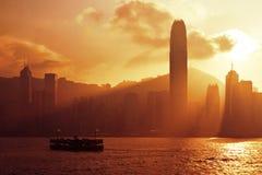 Tramonto di Hong Kong Fotografia Stock Libera da Diritti