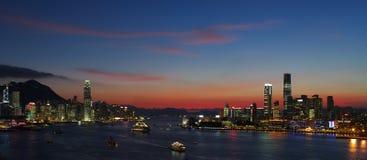 Tramonto di Hong Kong Immagini Stock