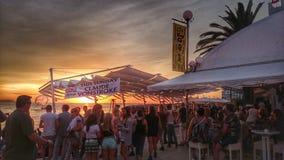 Tramonto di Ibiza Immagine Stock