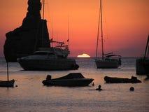 Tramonto di Ibiza Fotografia Stock