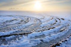 Tramonto di inverno. Fotografia Stock