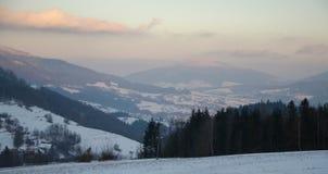 Tramonto di inverno immagini stock