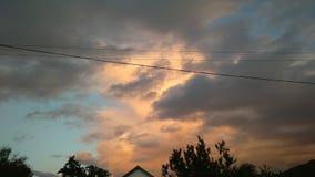tramonto di lasso di tempo bello nell'inverno video d archivio