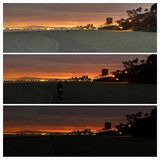 Tramonto di Long Beach fotografie stock libere da diritti