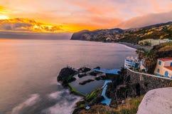 Tramonto di Madeira Immagini Stock
