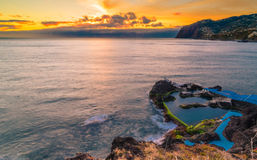 Tramonto di Madeira Immagini Stock Libere da Diritti