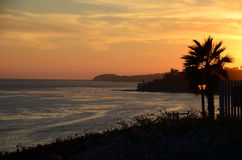 Tramonto di Malibu Immagine Stock Libera da Diritti