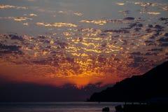 Tramonto di Mar Nero Fotografia Stock