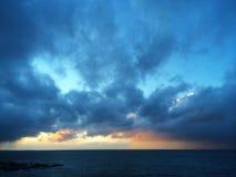 Tramonto di Moray Firth Fotografie Stock Libere da Diritti