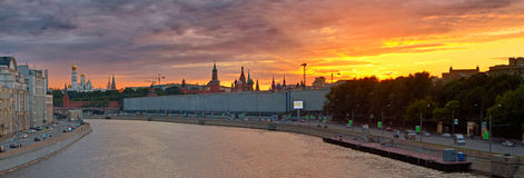 Tramonto di Mosca Fotografia Stock
