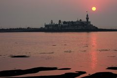 Tramonto di Mumbai Fotografie Stock Libere da Diritti