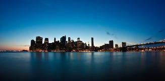 Tramonto di New York Immagini Stock Libere da Diritti